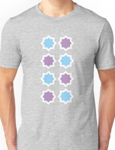 Blue and Lavender pattern Unisex T-Shirt