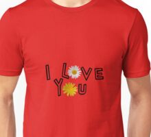 I love you on aurora red Unisex T-Shirt