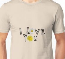 I love you in pale dogwood Unisex T-Shirt