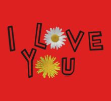 I love you on lush meadow One Piece - Short Sleeve