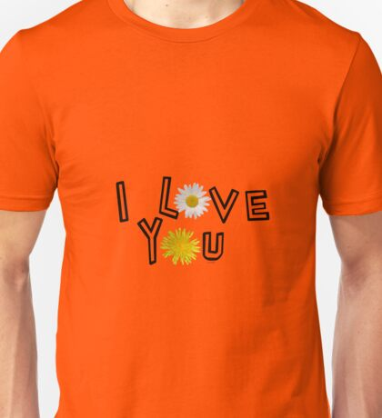 I love you on potter s clay Unisex T-Shirt