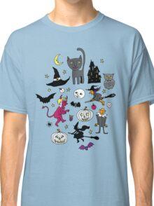 Retro Halloween - on Turquoise Classic T-Shirt