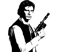 Han Solo - The Scruffy Looking Nerf Herder Photographic Print
