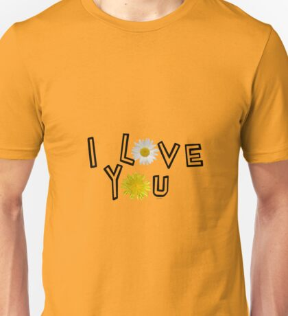 I love you in flame Unisex T-Shirt