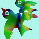 Birds - forest animals, flying, fluttering sky by fuxart
