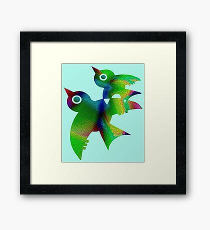 Birds - forest animals, flying, fluttering sky Framed Print