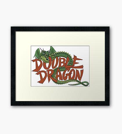 DOUBLE DRAGON - MASTER SYSTEM ART BOX Framed Print