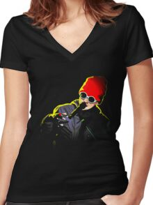 joshua dun Women's Fitted V-Neck T-Shirt