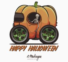 Happy Halloween. Pumpkin car Kids Tee