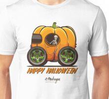 Happy Halloween. Pumpkin car Unisex T-Shirt