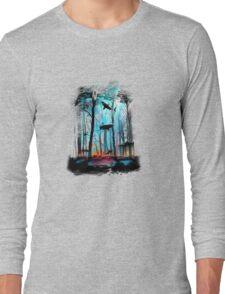 Shark In Forest Long Sleeve T-Shirt