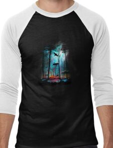 Shark In Forest Men's Baseball ¾ T-Shirt