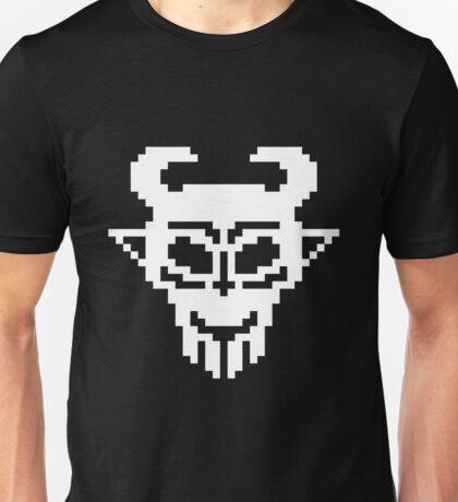Pixel Devil - Stencil Style - White Version Unisex T-Shirt