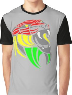 Reggae Music Cool Lion Reggae Colors T Shirts and Stickers Graphic T-Shirt