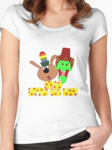 "Chorlton & Kettle Witch-""Hello, Little Old Lady"" Women's Fitted Scoop T-Shirt"