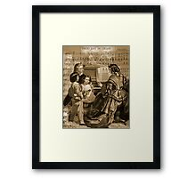 Thou Art So Dear Music - Mom And Children At Piano Framed Print