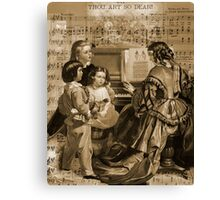 Thou Art So Dear Music - Mom And Children At Piano Canvas Print