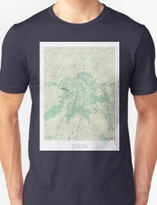 Dijon Map Blue Vintage Unisex T-Shirt
