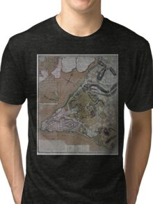 444 Plan of New York City of New York and its environs to Greenwich Town Survey'd in the winter 1775 Tri-blend T-Shirt