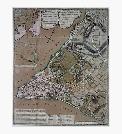 444 Plan of New York City of New York and its environs to Greenwich Town Survey'd in the winter 1775 Photographic Print