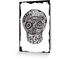 Tangled Sugar Skull 2 Greeting Card