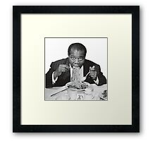 Louis Armstrong Eating Spaghetti Framed Print