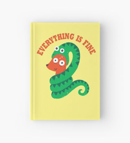 Everything Is Fine Hardcover Journal