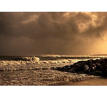 Storm Approaches over the Sea Photographic Print