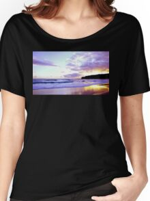 Purple Beach Women's Relaxed Fit T-Shirt