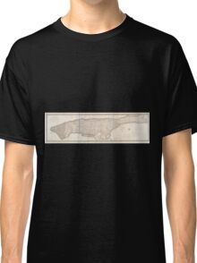 609 This map of the city of New York and island of Manhattan Classic T-Shirt