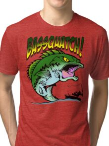 BASSQUATCH! Tri-blend T-Shirt