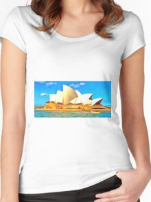 Beautiful Sydney Opera House Women's Fitted Scoop T-Shirt