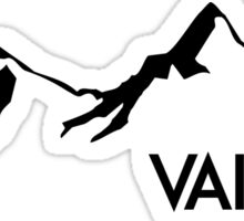 VAIL COLORADO Ski Skiing Mountain Mountains Skiing Skis Silhouette Snowboard Snowboarding Sticker