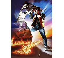 Back To The Future -Ink n Painted Photographic Print