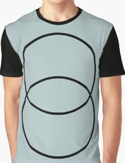 Sliding Circles Agave Blue Graphic T-Shirt