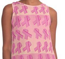 Pink Awareness Ribbon Contrast Tank
