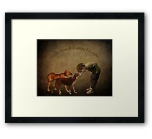Happiness Is Caring Friends Framed Print