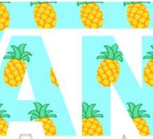 Vans Pineapple  Sticker