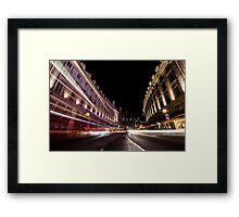 Regent Street Rush Framed Print
