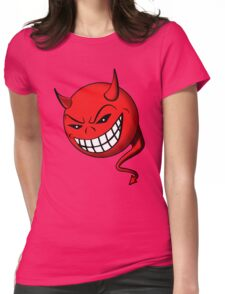 Devil, Emoji, Smiley, Cartoon face funny T-shirt  Womens Fitted T-Shirt