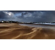 Stormy sand and sea Photographic Print