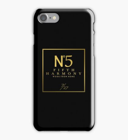 Fifth Harmony Official 7/27 Merch #1 ( Gold Text ) iPhone Case/Skin