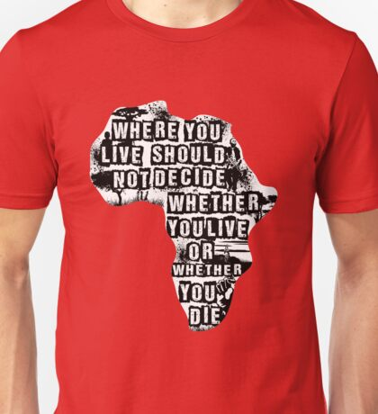 Where You Live - Africa (white) Unisex T-Shirt