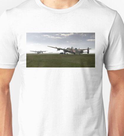 Lancasters on dispersal, colour version Unisex T-Shirt