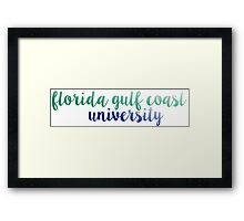 Florida Gulf Coast University Framed Print