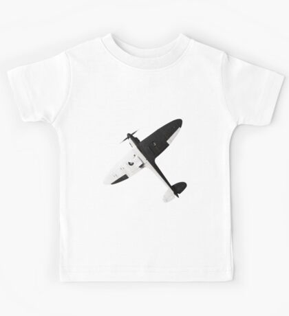 White and night Spitfire design Kids Tee