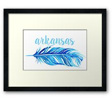 University of Arkansas Framed Print