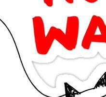Do yoga not war cat Sticker