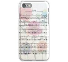 Clean Sheet Music iPhone Case/Skin
