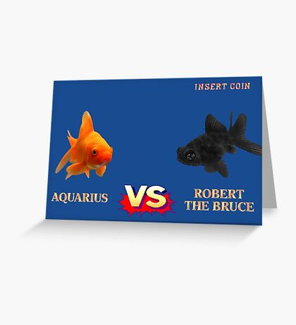 Street Fightin' Fish Greeting Card